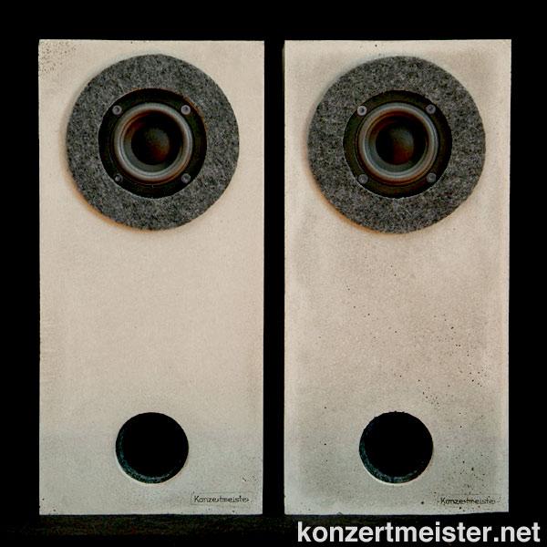 konzertmeister lautsprecher geh use aus beton. Black Bedroom Furniture Sets. Home Design Ideas